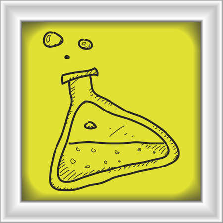 pocion: Simple hand drawn doodle of a potion Vectores
