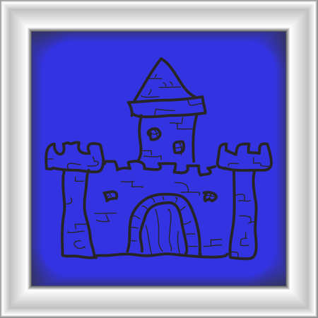 keystone: Simple hand drawn doodle of a castle