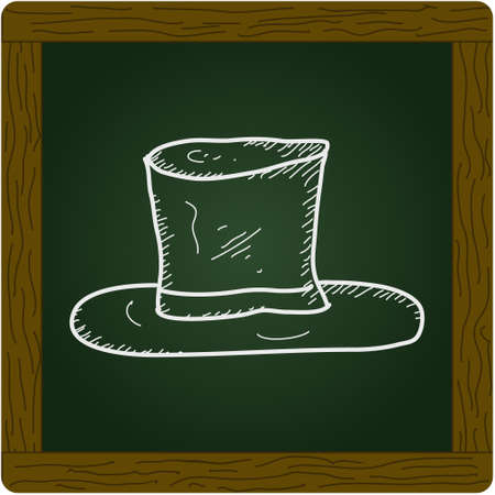 brim: Simple hand drawn doodle of a top hat