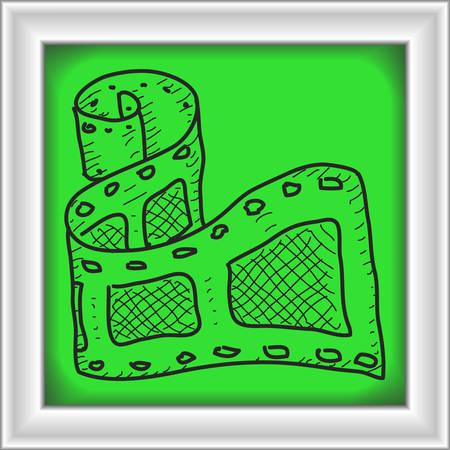 camera film: Simple hand drawn doodle of a camera film Illustration