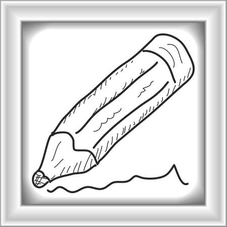 writing equipment: Simple hand drawn doodle of a pencil