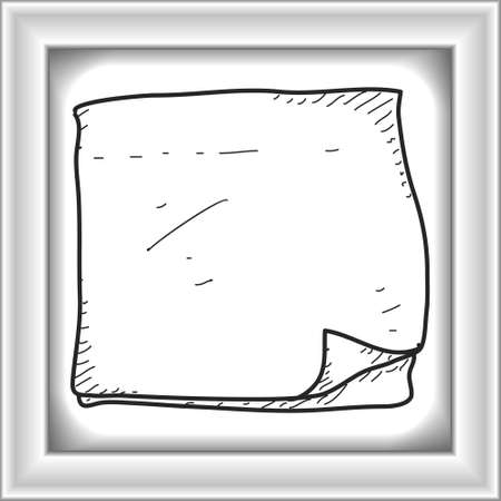 memo pad: Simple hand drawn doodle of a note