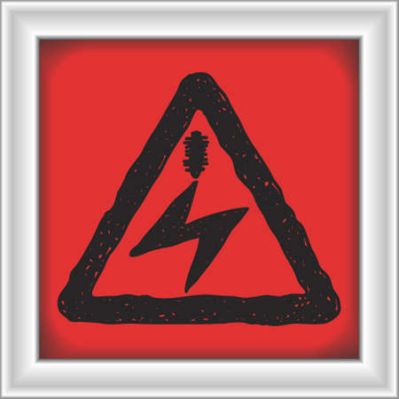 warning signs: Simple hand drawn illustration of a road sign Illustration