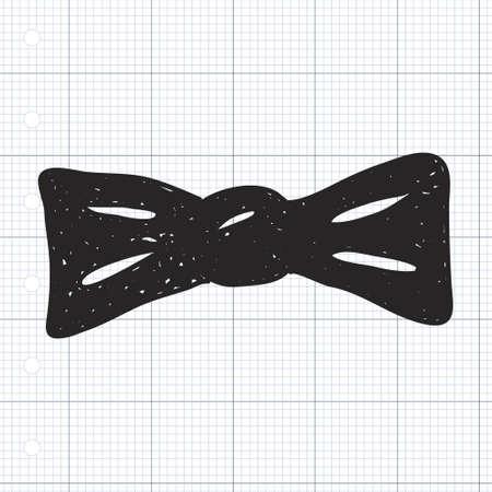 bowtie: Simple hand drawn illustration of a bowtie Illustration