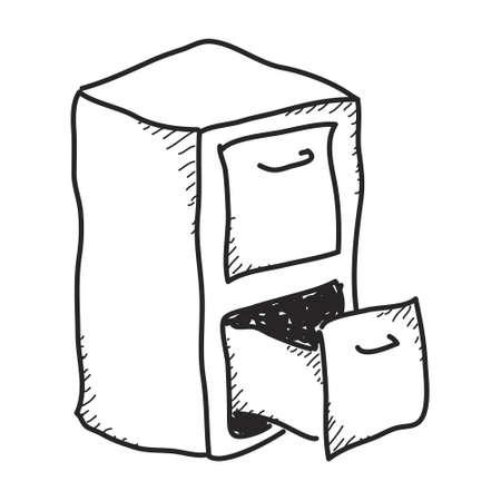 Semplice Doodle di una mano disegnato casellario
