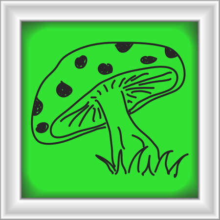 toadstool: Simple doodle of a hand drawn toadstool