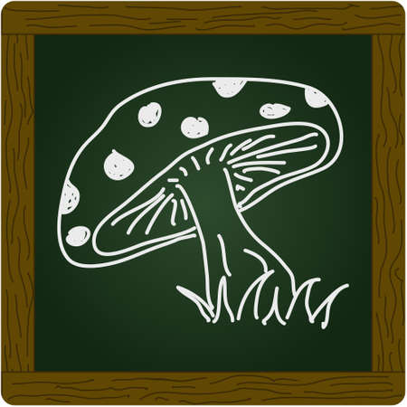 a toadstool: Simple doodle of a hand drawn toadstool