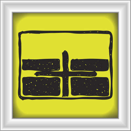 crossroad: Simple hand drawn illustration of a road sign showing crossroad Illustration