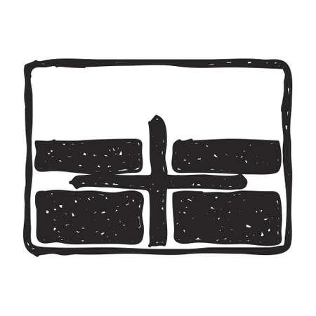 cruce de caminos: Sencilla dibujado a mano ilustraci�n de una se�al de tr�fico que muestra cruce Vectores