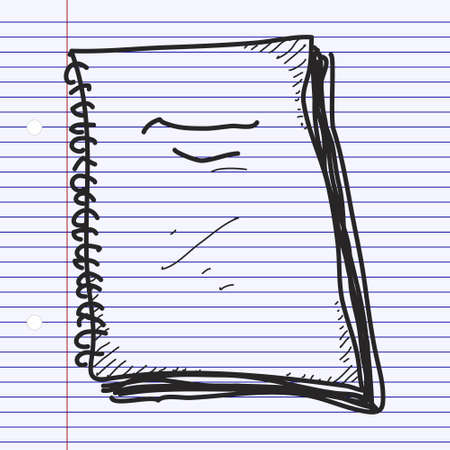 Simple doodle of a hand drawn notebook