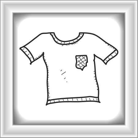 fashon: Simple hand drawn doodle of a t-tshirt
