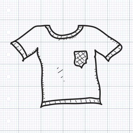 fashon: Simple hand drawn doodle of a tshirt Illustration