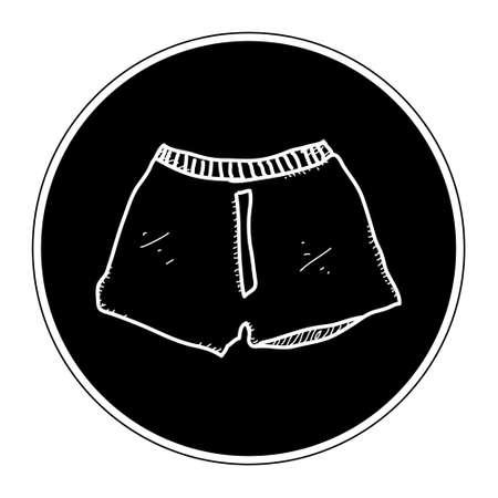 Semplice mano doodle disegnati di un paio di boxer