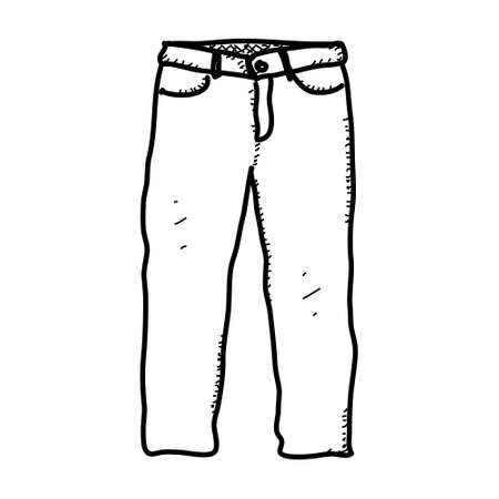 Simple hand drawn doodle of a pair of trousers Illustration