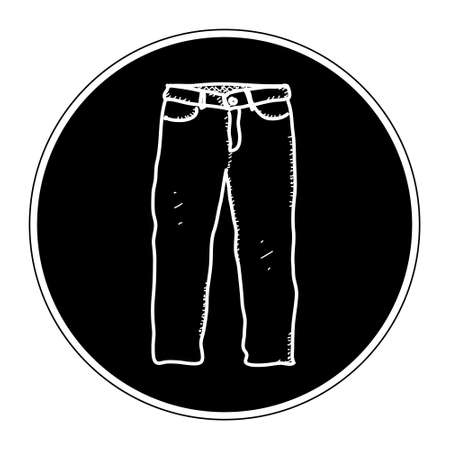 trousers: Simple hand drawn doodle of a pair of trousers Illustration