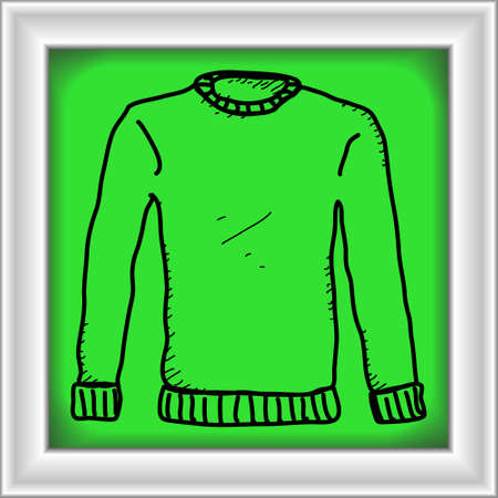 wooly: Simple hand drawn doodle of a jumper Illustration