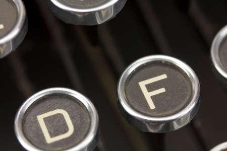 type writer: Close up of keys on an old vintage type writer.