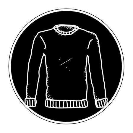 Simple hand drawn doodle of a jumper Illustration