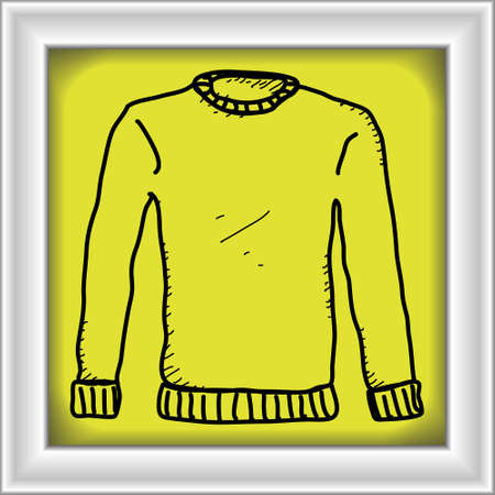 fashon: Simple hand drawn doodle of a jumper Illustration
