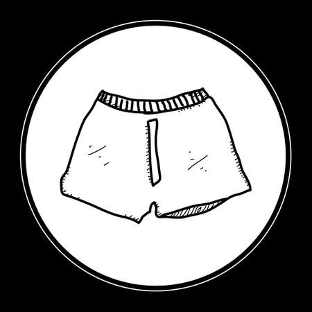 boxer shorts: Simple hand drawn doodle of a pair of boxer shorts