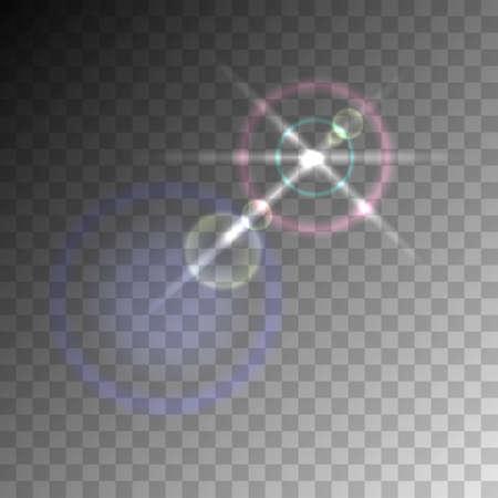 Transparent lens flare vector element.