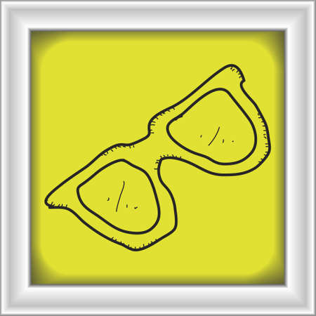pair of glasses: Simple hand drawn doodle of a pair of glasses Illustration