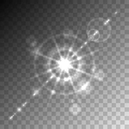 gaze: Transparent lens flare vector element.