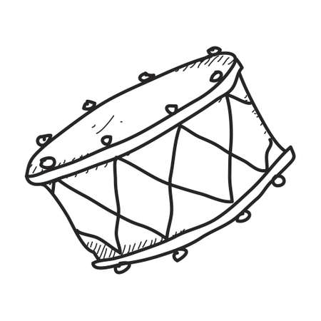 hand beats: Simple hand drawn doodle of a drum