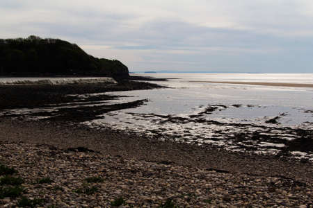 somerset: View of the beach at Clevedon, Somerset, England