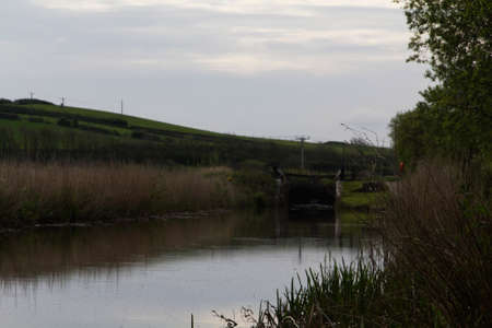 cornwall: View along the canal path at Bude, Cornwall