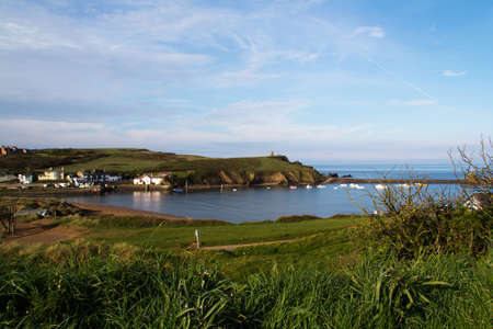 costal: View over Bude in Cornwall from the costal path