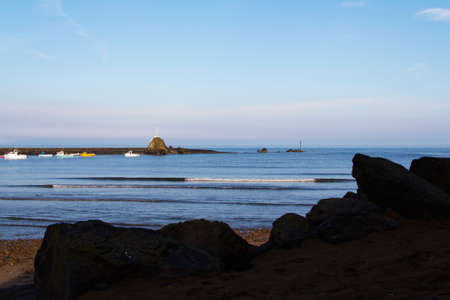 cornwall: View from the beach at Bude in Cornwall Stock Photo