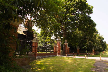 stately home: Entrance to stately home in Beaconsfield, England