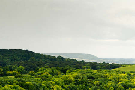 Bewolkt uitzicht over de Chilterns in Buckinghamshire, Engeland