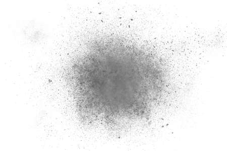 powder: Black and white abstract powder explosion background design