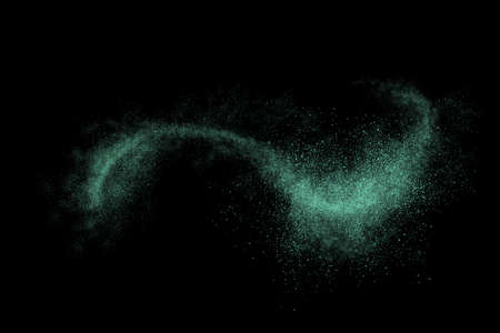 powder: Colourful abstract powder explosion on a black background design