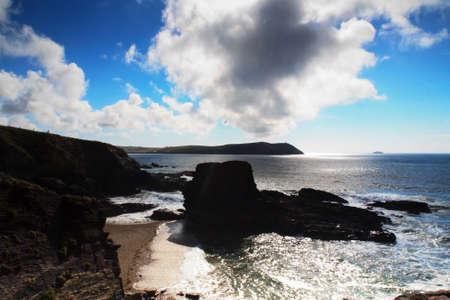 wispy: Beautiful view over the sea from Polzeath, Cornwall