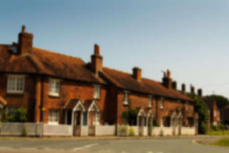out of town: Cottages in the old town in Beaconsield, Buckinghamshire, England Out of focus. Stock Photo