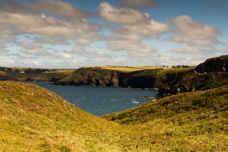 View from the costal path near Polzeath, Cornwall.