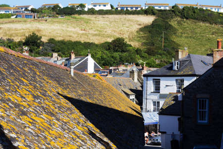 british weather: View down the old streets on Port Issac, Cornwall