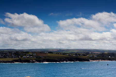 View from the costal path near Polzeath, Cornwall