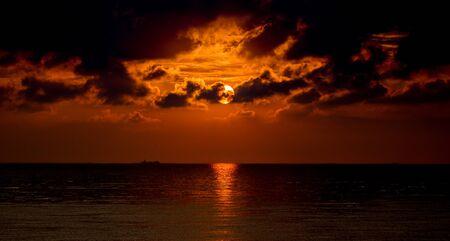 Sunrise at Deal Kent east coast United Kingdom.
