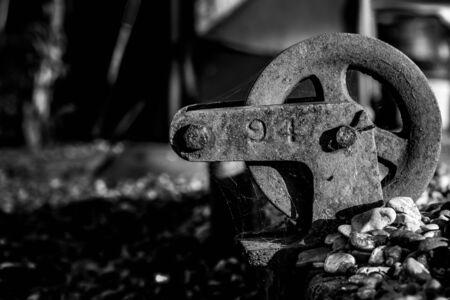 Vintage pulley wheel.