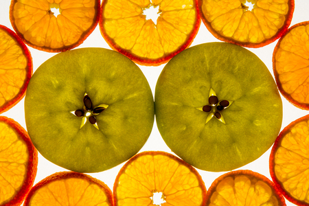 Apple and citrus slices.