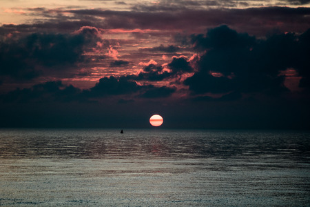 Sunrise in Deal Kent United Kingdom 스톡 콘텐츠