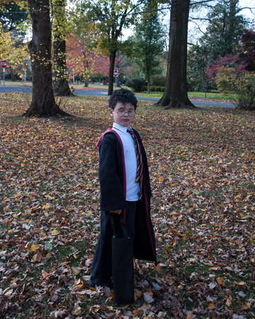 Boy dressed in costume Banque d'images