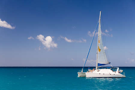 Catamaran in Carlisle Bay in Bermuda
