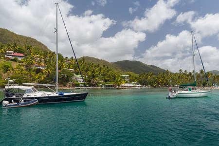 saint lucia: Taken from a Catamaran off the coast of St Lucia