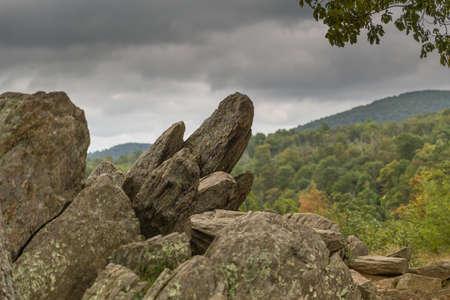 Rock formation in the Shenandoah National Park