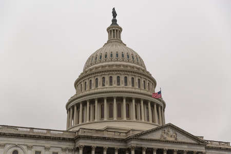 rotunda: The US Capitol Building in Washington DC Stock Photo
